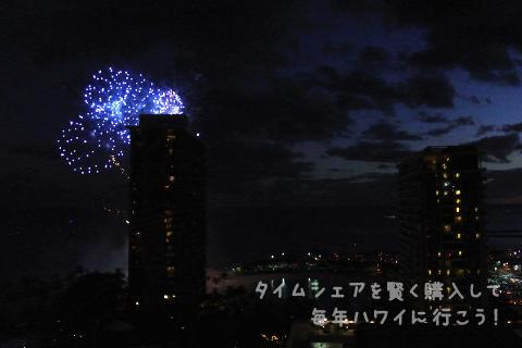 ヒルトンの花火、カリアタワーからの眺め